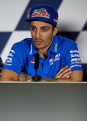 May 3, 2018 - Jerez De La Frontera, Cadiz, Spain - 29 Andrea Iannone (Italian) Team Suzuki Ecstarin the press conference before of the Gran Premio Red Bull of Spain, Circuit of Jerez - Angel Nieto, Jerez de la Frontera, Spain. Thursday, 03rd May, 2018. (Credit Image: © Jose Breton/NurPhoto via ZUMA Press)