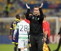 20/08/14 UEFA CHAMPIONS LEAGUE PLAY-OFF 1ST LEG<br /> NK MARIBOR v CELTIC<br /> LJUDSKI VRT - MARIBOR<br /> Celtic manager Ronny Deila applauds the fans
