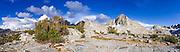 Sierra peaks above Dusy Basin, Kings Canyon National Park, California USA