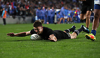 Rugby Union - 2017 Pacifica Challenge - New Zealand v Samoa<br /> <br /> Beauden Barrett of The All Blacks scores his first try at Eden Park Stadium, Auckland.<br /> <br /> <br /> COLORSPORT/LYNNE CAMERON