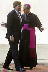 June 22, 2017 - Vatican City, Vatican - King Willem Alexander of the Netherlands is welcomed by Archbishop Georg Ganswein, Prefect of the Papal Household, as he arrives at the Apostolic Palace to attend a private audience with Pope Francis in Vatican City, Vatican on June 22, 2017. The King and Queen of the Netherlands are in Italy for a 3 day state visit. (Credit Image: © Giuseppe Ciccia/NurPhoto via ZUMA Press)