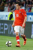 Fotball<br /> Østerrike v Romania<br /> 05.06.2012<br /> Innsbruck Østerrike<br /> Foto: Gepa/Digitalsport<br /> NORWAY ONLY<br /> <br /> OEFB, Trainingslager, Laenderspiel, Oesterreich vs Rumaenien, Freundschaftsspiel. <br /> <br /> Bild zeigt Zlatko Junuzovic (AUT).