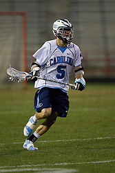 23 April 2010: North Carolina Tar Heels  midfielder Chris Hunt (5) during a 13-5 loss to the Maryland Terrapins in the first round of the ACC Tournament at Byrd Stadium in College Park, MD.