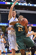 April 4, 2016; Indianapolis, Ind.; Keiahnna Engel goes up for a layup in the NCAA Division II Women's Basketball National Championship game at Bankers Life Fieldhouse between UAA and Lubbock Christian. The Seawolves lost to the Lady Chaps 78-73.