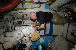 EARTH Aboard the International Space Station -- 27Jan 2016 -- NASA astronaut Scott Kelly relocates spacewalk hardware and suits inside the Quest airlock of the International Space Station. EXPA Pictures © 2016, PhotoCredit: EXPA/ Photoshot/ Atlas Photo Archive/NASA<br /><br />*****ATTENTION - for AUT, SLO, CRO, SRB, BIH, MAZ, SUI only*****