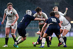 Sarah Hunter of England Women is tackled takes on Lana Skeldon of Scotland Women - Mandatory by-line: Robbie Stephenson/JMP - 16/03/2019 - RUGBY - Twickenham Stadium - London, England - England Women v Scotland Women - Women's Six Nations