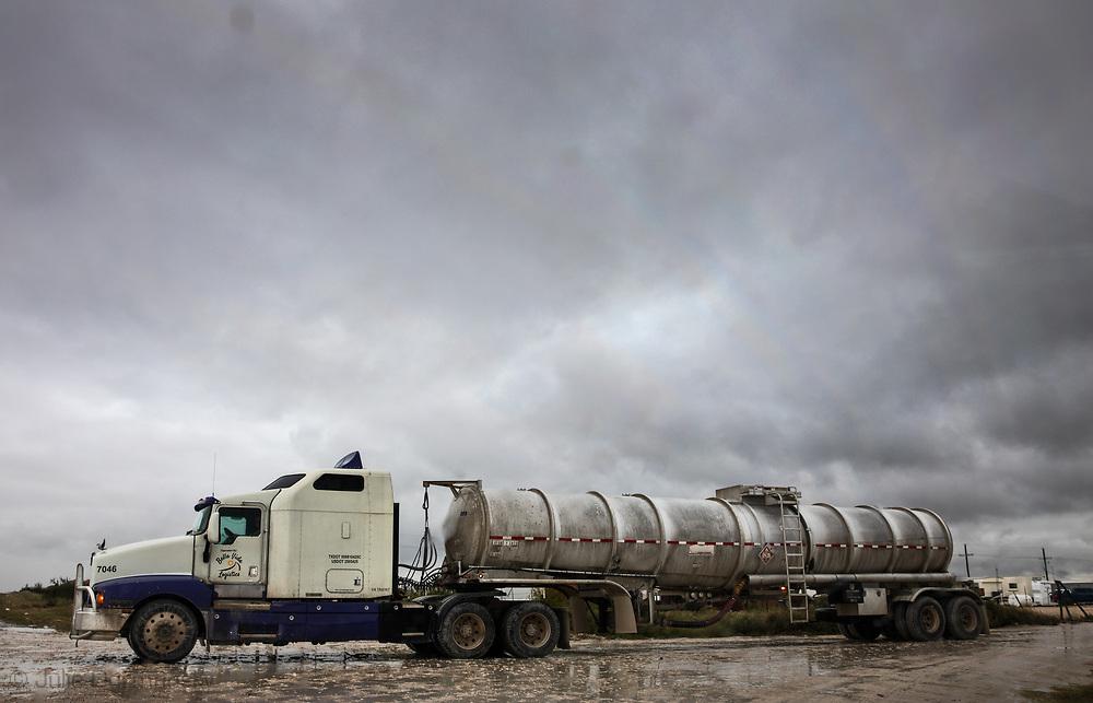 Fracking industry truck in  the Permain Basin.