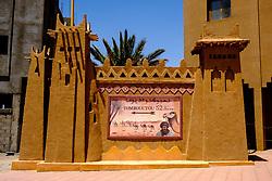 Sign showing direction to Timbuctu in Zagora, Morocco<br /> <br /> (c) Andrew Wilson | Edinburgh Elite media