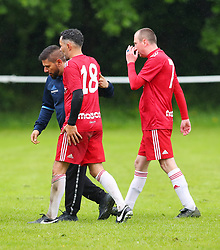 Rhodri Giggs Coronation Streets Andy Whyment (who plays Kirk Sutherland) walks him off.