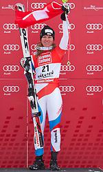 08.01.2012, Weltcupabfahrt Kaernten – Franz Klammer, Bad Kleinkirchheim, AUT, FIS Weltcup Ski Alpin, Damen, Super G, Podium, im Bild Fabienne Suter (SUI, Rang 1) // first place Fabienne Suter of Switzerland on podium during ladies Super G at FIS Ski Alpine World Cup at 'Kaernten – Franz Klammer' course in Bad Kleinkirchheim, Austria on 2012/01/08. EXPA Pictures © 2012, PhotoCredit: EXPA/ Johann Groder