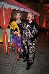 SIR TERENCE & LADY CONRAN at a dinner to celebrate the opening of 'Maharaja - The Spendour of India's Royal Courts' an exhbition at the V&A, London on 6th October 2009.
