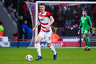 Paul Downing of Doncaster Rovers (31) in action during the The FA Cup fourth round match between Doncaster Rovers and Oldham Athletic at the Keepmoat Stadium, Doncaster, England on 26 January 2019.