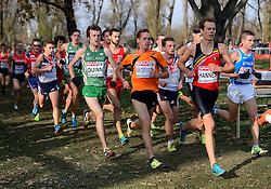 08-12-2013 ATHLETICS: SPAR EC CROSS COUNTRY: BELGRADE<br /> -23 Mannen op de 8 km / Jesper van der Wielen naast winnaar Pieter Jan Hannes BEL<br /> ©2013-WWW.FOTOHOOGENDOORN.NL