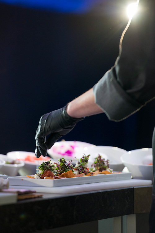 The 2018 Palm Desert Food and Wine Festival hosted by Palm Springs Life Magazine. CHef Engin Onural of SandFish restaurant gives a chef demo during the first day of Food & Wine. Photos by Tiffany L. Clark