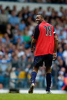 Photo. Jed Wee, Digitalsport<br /> Lucas Radebe Testimonial, Leeds United XI v International XI, 02/05/2005.<br /> Lucas Radebe is all smiles as he bids farewell.