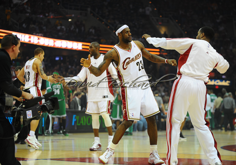 LeBron James and Damon Jones..The Cleveland Cavaliers defeated the Boston Celtics 108-84 in Game 3 of the Eastern Conference Semi-Finals at Quicken Loans Arena in Cleveland.