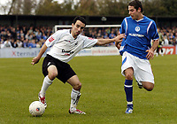 Photo: Olly Greenwood/Sportsbeat Images.<br />Billericay Town v Swansea City. The FA Cup. 10/11/2007. Swansea's Leon Britton and Billericay's Paul Abbott