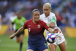 June 27, 2019 - Le Havre, France - Isabell Herlovsen (Kolbotn) of Norway and Steph Houghton (Manchester City WFC) of England competes for the ball during the 2019 FIFA Women's World Cup France Quarter Final match between Norway and England at  on June 27, 2019 in Le Havre, France. (Credit Image: © Jose Breton/NurPhoto via ZUMA Press)