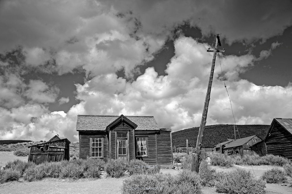The ghost town of Bodie California, a former mining gold rush town