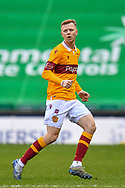Nathan McGinley (#5) of Motherwell FC during the SPFL Premiership match between Hibernian FC and Motherwell FC at Easter Road, Edinburgh, Scotland on 27 February 2021.