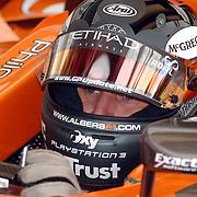 NLD/Volkel/20070420 - Spyker F1 meets F16, Full Throttle 2007, Christijan Albers in zijn formule 1 wagen