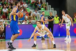 Kelemen Prepelic of Slovenia during qualifying match between Slovenia and Kosovo for European basketball championship 2017,  Arena Stozice, Ljubljana on 31th August, Slovenia. Photo by Grega Valancic / Sportida