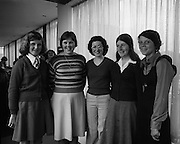 Seafood Cook in Rosslare 07/05/1976.05/07/1976.7th May 1976.Pictured from left to right, Laura O'Hagan, Loreto Convent, Bray, Co. Wicklow, Helen O' Rourke, Mercy Convent, Waterford. Helen Holden, Holy Faith Convent, Rosbercon, New Rose, Co. Wexford, Breda Ryan, Vocational School, Borris, Co. Carlow, Sharon Hoban, Vocational School, Kilkenny.