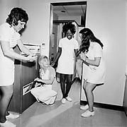 "Y-730621B-09. ""Emanuel Hospital. X ray tech. June 21, 1973"""