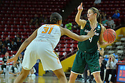 March 18, 2016; Tempe, Ariz;  Green Bay Phoenix guard Kaili Lukan (4) directs the offense during a game between No. 7 Tennessee Lady Volunteers and No. 10 Green Bay Phoenix in the first round of the 2016 NCAA Division I Women's Basketball Championship in Tempe, Ariz.