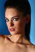 Female in her 20s close up face portrait, studio