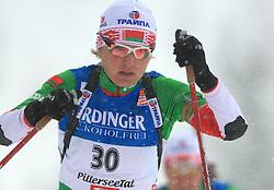 Olga Kudrashova (BLR) at Women 15 km Individual at E.ON Ruhrgas IBU World Cup Biathlon in Hochfilzen (replacement Pokljuka), on December 18, 2008, in Hochfilzen, Austria. (Photo by Vid Ponikvar / Sportida)