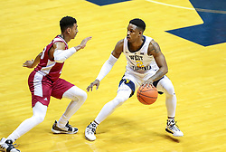 Nov 28, 2018; Morgantown, WV, USA; West Virginia Mountaineers guard Brandon Knapper (2) dribbles the ball during the first half against the Rider Broncs at WVU Coliseum. Mandatory Credit: Ben Queen-USA TODAY Sports