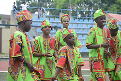 May 27, 2017 - Lagos, Nigeria - Pupils in native attire dance during the Children's Day parade at Agege Stadium in Lagos Nigeria May 27 2017. (Credit Image: © Adekunle Ajayi/NurPhoto via ZUMA Press)