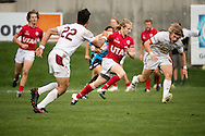 University of Denver takes on University of Utah at Red Bull Uni 7s Rugby Qualifiers at Infinity Park in Glendale, CO, USA, on 25 August, 2016.