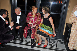 Left to right, SIR TERENCE CONRAN, LADY HAMLYN and LADY CONRAN at a dinner to celebrate the opening of 'Maharaja - The Spendour of India's Royal Courts' an exhbition at the V&A, London on 6th October 2009.
