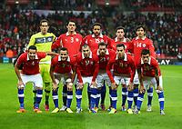 Football - 2013 International Friendly - England vs. Chile<br />  Chile  team group <br /> Back row L to R. Claudio Bravo , Marcos Gonzalez , Jean Beausejour , Eugenio Mena , Matias Fernandez .<br /> Front - Mauricio Isla , Alexis Sanchez , Gary Medel, Marcelo Diaz , Eduardo Vargas , Charles Aranguiz. <br />  at Wembley.<br /> <br /> COLORSPORT/ANDREW COWIE