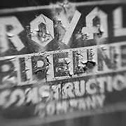 Royal Pipeline Construction Company - Motor Transport Museum - Campo, CA - Lensbaby - Black & White