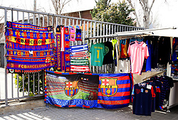FC Barcelona merchandise on sale outside the Camp Nou Stadium - Mandatory by-line: Matt McNulty/JMP - 14/03/2018 - FOOTBALL - Camp Nou - Barcelona, Catalonia - Barcelona v Chelsea - UEFA Champions League - Round of 16 Second Leg