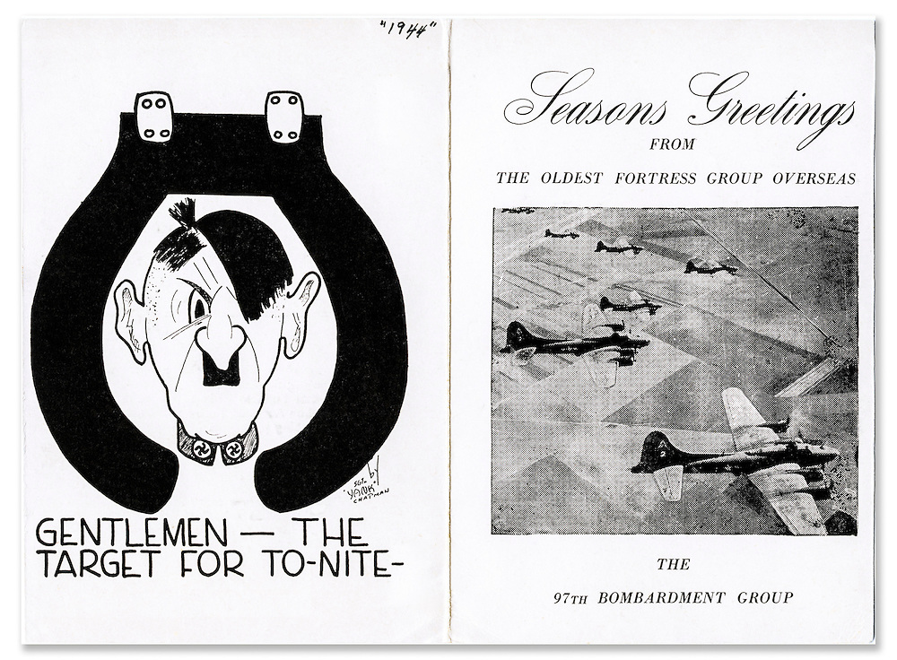 Hand-made Christmas card from the personal collection of Lt. Warren W. Swenson.