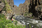 Imnaha River Trail, Hells Canyon National Recreation Area, Wallowa-Whitman National Forest, Imnaha, Oregon, USA. The entire river is designated Wild and Scenic.
