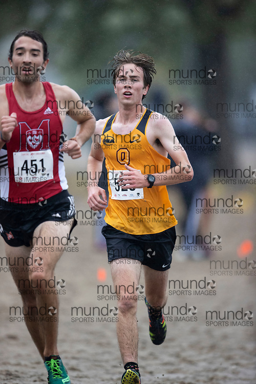 If you post on social media please tag @mundosportimages on Instagram or tag Mundo Sport Images on Facebook.<br /> <br /> (Ottawa, Canada---02 October 2021)  Dan  Coolican (Queen's Gaels) competing in the University Men's / Open Men's race at the  2021 Capital Cross Country Challenge held at Mooney's Bay in Ottawa.  Photograph 2021 Copyright Sean Burges / Mundo Sport Images