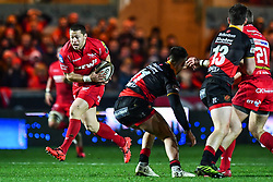 Scarlets' Rhys Jones in action during todays match<br /> <br /> Photographer Craig Thomas/Replay Images<br /> <br /> Guinness PRO14 Round 13 - Scarlets v Dragons - Friday 5th January 2018 - Parc Y Scarlets - Llanelli<br /> <br /> World Copyright © Replay Images . All rights reserved. info@replayimages.co.uk - http://replayimages.co.uk