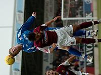 Photo: Ian Hebden.<br />Northampton Town v Rushden & Diamonds. Coca Cola League 2. 04/02/2006.<br />Rushden's Petr Mikolanda (L) beats Northampton's Jason Crowe to the ball.
