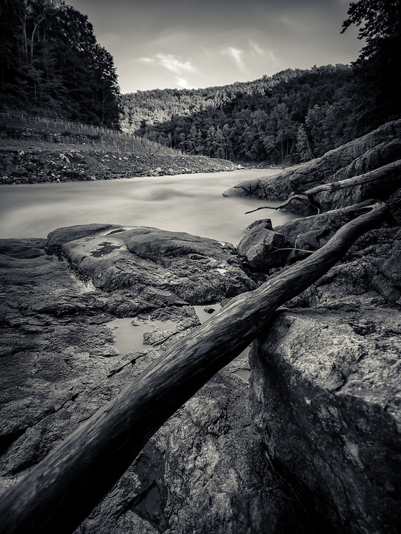 Patapsco River at Bonnie Branch Road in Ellicott City, MD.