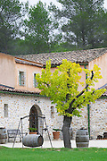 Domaine Haut-Lirou in St Jean de Cuculles. Pic St Loup. Languedoc. The winery building. France. Europe.