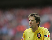 Photo: Lee Earle.<br /> Chelsea v Manchester United. The FA Cup Final. 19/05/2007.United keeper Edwin van Der Sar looks dejected.