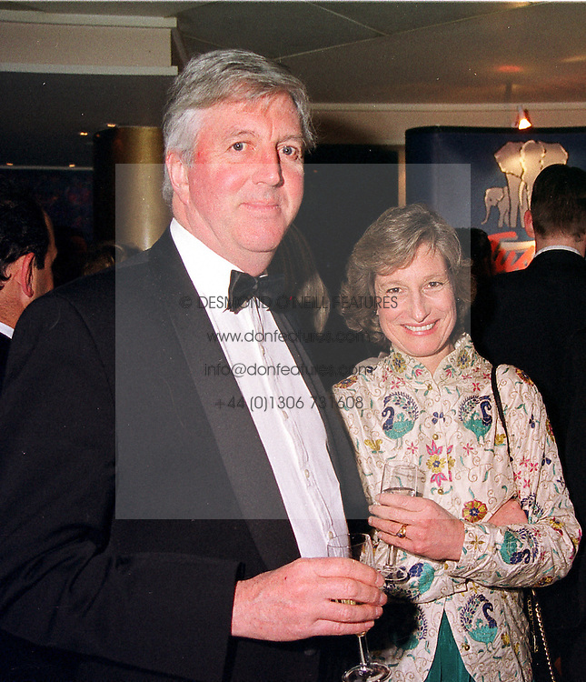 MR & MRS RICHARD PLEYDELL-BOUVERIE their son was killed by a lion in Africa, at a dinner in London on 17th February 2000.OBE 19 2olo