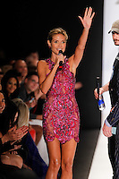 Heidi Klum at the filming of the Project Runway Spring 2015 Fashion Show during Mecedes-Benz Fashion Week in New York on September 5th, 2014