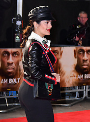 November 28, 2016 - London, London, United Kingdom - Image ©Licensed to i-Images Picture Agency. 28/11/2016. London, United Kingdom. Salma Hayek attends I Am Bolt world film premiere. Screening of documentary I Am Bolt exploring Bolt's legacy of the fastest man in history, at Odeon Leicester Square, London.  Picture by Nils Jorgensen / i-Images (Credit Image: © Nils Jorgensen/i-Images via ZUMA Wire)