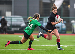 Wales women's Lisa Neumann in action during todays match<br /> <br /> Photographer Craig Thomas/Replay Images<br /> <br /> International Friendly - Wales women v Ireland women - Sunday 21th January 2018 - CCB Centre for Sporting Excellence - Ystrad Mynach<br /> <br /> World Copyright © Replay Images . All rights reserved. info@replayimages.co.uk - http://replayimages.co.uk